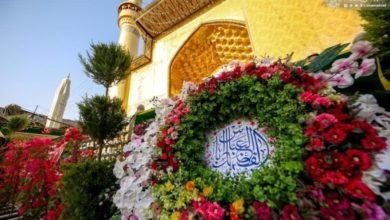 صورة المؤمنون يباركون ولادة الأقمار المحمدية في حضرة أمير المؤمنين عليه السلام (صور)