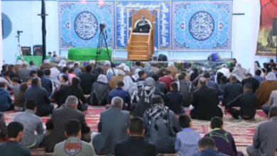 صورة جموع الزائرين يحيون ذكرى شهادة الإمام الكاظم عند مزار ولده عليهما السلام في الديوانية