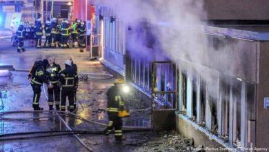 صورة السويد.. مجهولان يضرمان النار بمدرسة خاصة للمسلمين