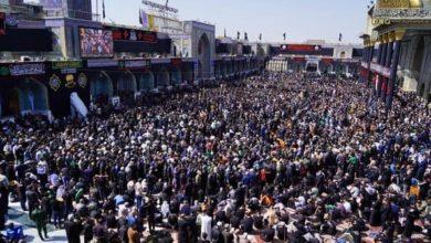 صورة بالصور.. الأمواج البشرية تحتشد عند مرقد الإمام الكاظم عليه السلام في ذكرى شهادته