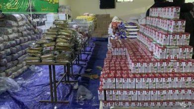 صورة مواكب الخدمة الحسينية العراقية توزع المساعدات الإنسانية على العوائل المتعففة في دمشق