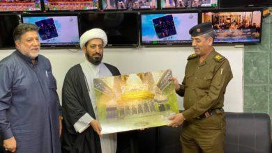 صورة مجموعة الإمام الحسين (عليه السلام) الإعلامية تستقبل قائد شرطة كربلاء المقدّسة