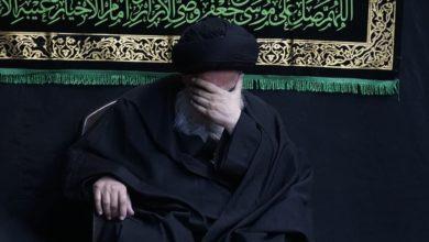صورة بيت المرجع الشيرازي في قم المقدسة يحيي ذكرى استشهاد الإمام الكاظم عليه السلام