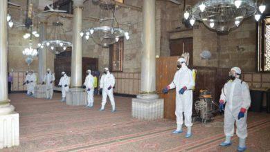 صورة استعدادات لفتح مسجد الإمام الحسين (عليه السلام) بالقاهرة خلال شهر رمضان العظيم