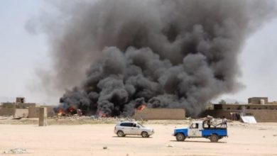 صورة غارات جوية لطيران التحالف السعودي على صعدة والجوف والبيضاء