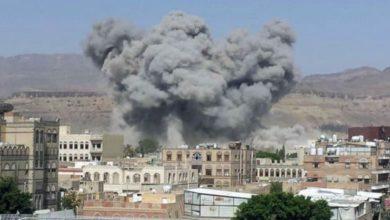 صورة شهداء وجرحى من الأطفال والنساء جرّاء قصف سعودي متواصل على صعدة