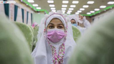 صورة بالصور: عند مرقد الإمام الحسين عليه السلام تتويج بنات شهداء فتوى الدفاع الكفائي بالحجاب الشرعي