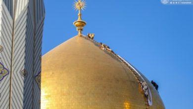 صورة بالصور.. مراسيم غسل القبة الشريفة لمرقد أمير المؤمنين عليه السلام استعداداً لشهر رمضان العظيم