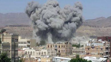 صورة استشهاد وإصابة يمنيين بينهم امرأة بقصف سعودي على صعدة