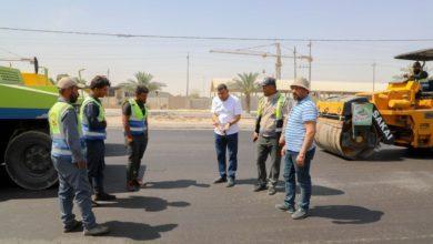 صورة بلدية كربلاء المقدسة تنهي أعمال إكساء مدخل (كربلاء ـ النجف) وتأهيل المنطقة أمام الزائرين