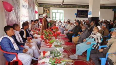 صورة برعاية مكتب المرجعية الشيرازية.. إقامة حفل زفاف لـ (14 شاباً وشابة) في أفغانستان
