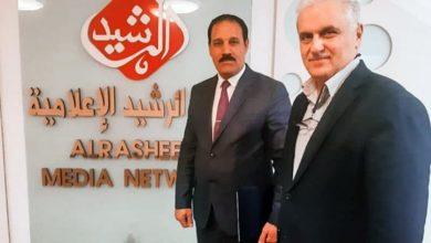 صورة ممثّل مؤسسة مصباح الحسين عليه السلام يزور مجموعة الرشيد الإعلامية في بغداد