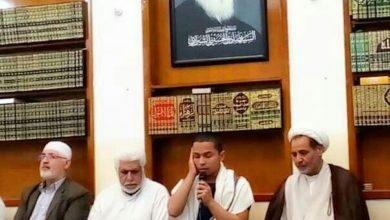 صورة وفد من مركز أهل البيت (عليهم السلام) يزور مجموعة الإمام الحسين (عليه السلام) الإعلامية