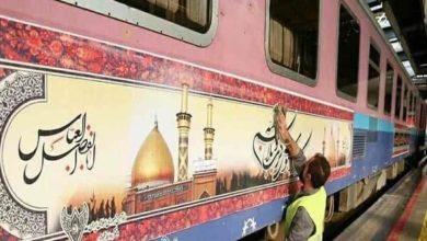 صورة بناء سكة حديد تربط إيران بالعراق لنقل الزائرين إلى العتبات المقدسة