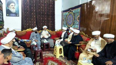 صورة مركز أهل البيت عليهم السلام في بغداد يستقبل مجموعة من رجال الدين والخطباء وأئمة المساجد