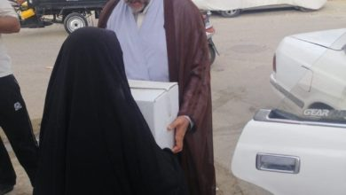 صورة مكتب المرجع الشيرازي يطلق حملة لمساعدة المحتاجين في عدد من مناطق النجف الأشرف