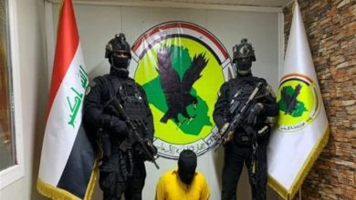 """صورة اعتقال مسؤولي التفخيخ والاقتحامات في """"د1عش"""" الارهـ،ـابي غربي نينوى"""