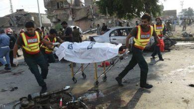صورة مقتل 6 أشخاص إثر انفجار قنبلة في باكستان