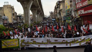 صورة في باكستان وإيران والبرتغال.. وقفات وتظاهرات حاشدة إحياءً لفاجعة تهديم قبور جنّة البقيع