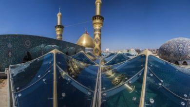صورة خيم العيال في واقعة الطف تتجسد في خيام سقف صحن مرقد أبي الفضل العبّاس عليه السلام (صور)