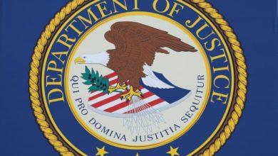 صورة وزارة العدل الأميركية تحجب مواقعَ عددٍ من القنوات الشيعية