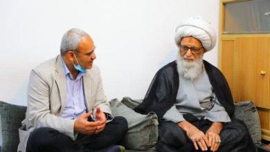 صورة المرجع النجفي لمسؤول في منظمة نداء جنيف: الإسلام يوصي بخدمة الإنسانية والمجتمع
