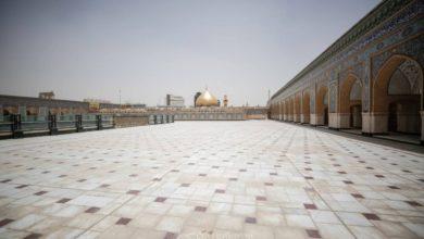 صورة بالصور ..  نسب إنجاز متقدمة يشهدها صحن السيدة فاطمة الزهراء (عليها السلام) ضمن التوسعة الغربية للصحن العلوي المطهر