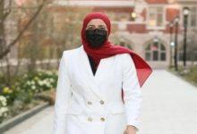 """صورة بيان جلال.. أول مسلمة تتولى رئاسة اتحاد الطلاب في جامعة """"ييل"""" الأمريكية"""