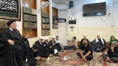 صورة مكتب المرجع الشيرازي في كربلاء المقدسة يحيي ذكرى استشهاد الإمام الصادق عليه السلام