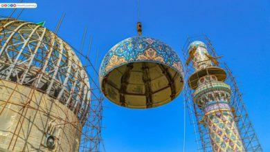 صورة بالصور.. مراحل العمل في مرقد السيدة شريفة بنت الإمام الحسن عليهما السلام في بابل