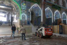صورة أعمال متواصلة داخل الصحن الحسيني الشريف لتوفير مساحات إضافية (صور)