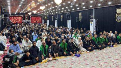 صورة إقامة مجالس عزائية مع حلول الفاجعة الأليمة لاستشهاد الإمام الجواد (عليه السلام)