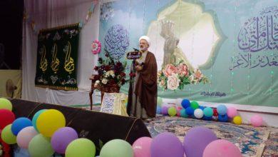 """صورة وفد من مكتب المرجع الشيرازي في النجف الأشرف يشارك """"الميسانيين"""" احتفالهم بعيد الغدير الأغر"""