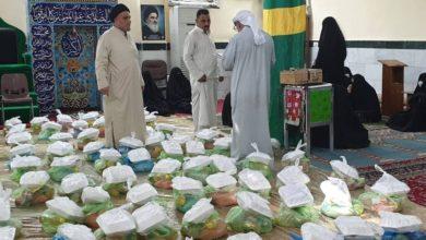 صورة توزيع سلال غذائية على المتعففين والفقراء في قضاء طويريج