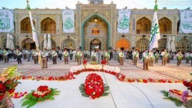 صورة كوادر العتبة العلوية المقدسة تستنفر لخدمة الزائرين الكرام في عيد الغدير الأغر