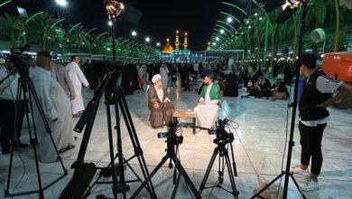 صورة قناة الإمام الحسين عليه السلام الفضائية الرابعة باللغة الأوردية تواصل أنشطتها الخاصة بأيّام عرفة وعيد الأضحى