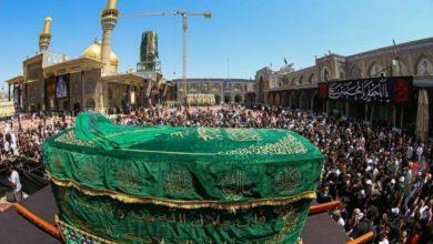 صورة جموع الزائرين تحيي ذكرى استشهاد الإمام محمد الجواد عليه السلام في الكاظمية المقدسة (صور)