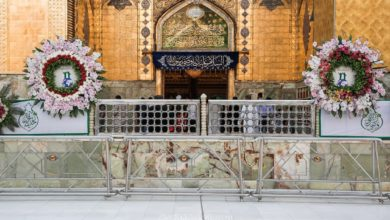 صورة بالصور.. أجواء الفرح والسرور تعم أرجاء مرقد الإمام علي عليه السلام بحلول عيد الغدير الأغر