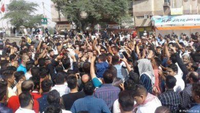 صورة احتجاجات غاضبة جراء أزمة المياه في خوزستان جنوب إيران