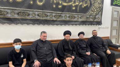 صورة نجل المرجع الشيرازي يشارك الكويتيين أحزانهم بعاشوراء ويجري زيارات تفقّدية