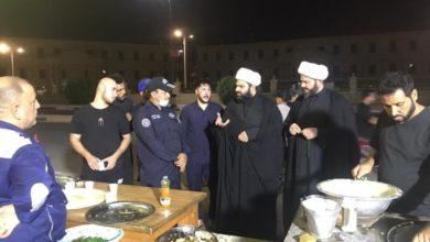 صورة وفد مؤسسة أهل البيت عليهم السلام يواصل زيارته الميدانية للمجالس الحسينية والمواكب في مناطق البصرة