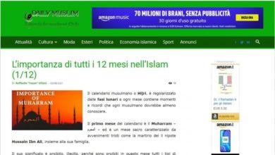 صورة صحيفة دايلي الإيطالية تسلط الضوء على ما جرى للحسين عليه السلام وصحبه وأهل بيته في كربلاء