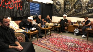 صورة مكتب المرجع الشيرازي في بيروت يختتم مجالسه العزائية بذكرى عاشوراء الأليمة
