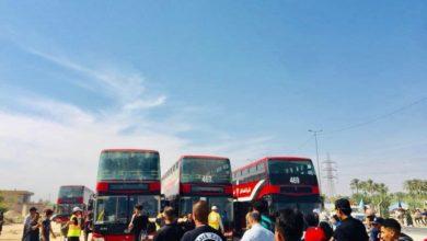 صورة حكومة كربلاء المقدسة: إركاب الزوار يتم من على بعد نحو كيلومتر تقريباً من المرقدين الشريفين والخطط تسير بانسيابية عالية