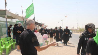 صورة الهيئة الصادقية في البصرة تشارك بالمسيرة الأربعينية المليونية وتطَّلع على فعاليات وخدمات المواكب الحسينية