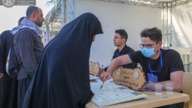صورة استمرار مشروع تصحيح قراءة سورة الفاتحة لزائري الأربعين الحسيني (صور)