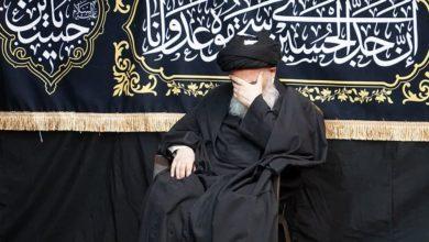 صورة بيت المرجع الشيرازي في قم المقدسة يحيي ذكرى شهادة الإمام السجاد عليه السلام