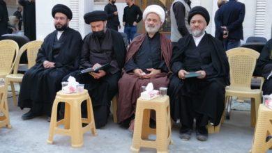 صورة مكتب المرجع الشيرازي يحضر مجلس عزاء المرجع الراحل السيد محمد سعيد الحكيم في النجف الأشرف