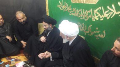 صورة وفد من مكتب المرجع الشيرازي يتفقد عدداً من مواكب الخدمة الحسينية ويثمن جهودهم