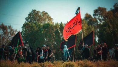 صورة مشاهد توثق انطلاق مسيرة العشق الحسيني من البصرة صوب مرقد سيد الشهداء عليه السلام في كربلاء المقدسة